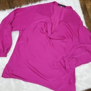 Rose and Olive Women Plus Size 1X Magenta Blouse